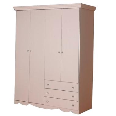 ארונות בגדים: ארון 4 דלתות בעיצוב קלאסי דגם שקד