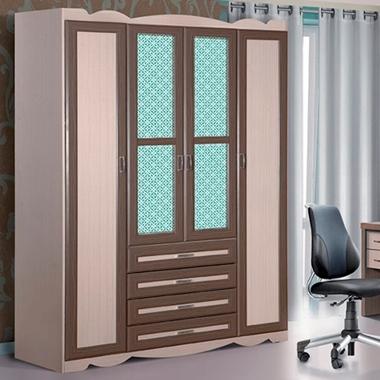 תמונה של ארונות בגדים: ארון 4 דלתות בעיצוב קלאסי דגם כפיר