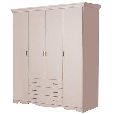 תמונה של ארונות בגדים: ארון 4 דלתות בעיצוב קלאסי דגם שלכת