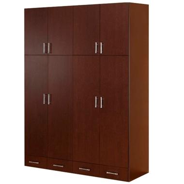 ארונות בגדים: ארון כפול 4 דלתות בעיצוב קלאסי דגם סער