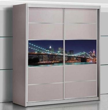 תמונה של ארונות הזזה: ארון הזזה 2 דלתות דגם חלום