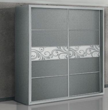 תמונה של ארונות הזזה: ארון הזזה 2 דלתות מרשים דגם ארז ולנטינו