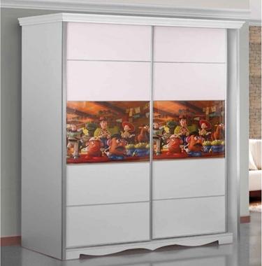 תמונה של ארונות הזזה: ארון הזזה 2 דלתות דגם בז