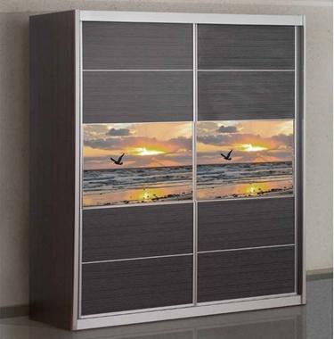 תמונה של ארונות הזזה: ארון הזזה 2 דלתות דגם בר