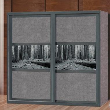 תמונה של ארונות הזזה: ארון הזזה 2 דלתות אופנתי  דגם פיקין