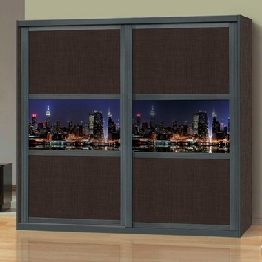 תמונה של ארונות הזזה: ארון הזזה 2 דלתות בעיצוב קלאסי דגם וינה