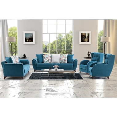 מערכות ישיבה: סלון 1+2+3 מרהיב ביופיו דגם פלורנס