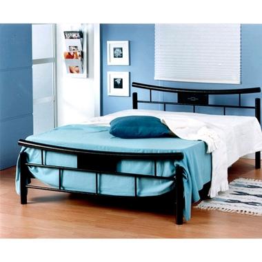 מיטות: מיטה זוגית עשויה מתכת דגם הדס