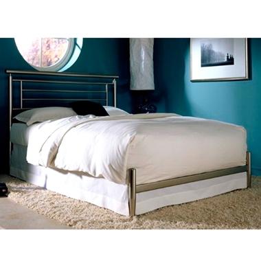 מיטות: מיטה זוגית עשויה מתכת דגם טופז