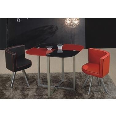 תמונה של פינות אוכל: פינת אוכל + 4 כסאות וקפה מודולארית וחכמה דגם שחמט