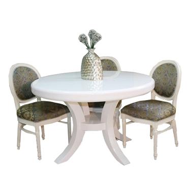 תמונה של פינת אוכל יוקרתית שולחן + 3 כסאות דגם בן
