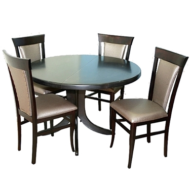 תמונה של פינת אוכל יוקרתית שולחן + 4 כסאות דגם מניפה