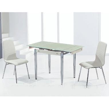 פינות אוכל: שולחן פינת אוכל זכוכית נפתח דגם המפטון