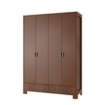 תמונה של ארונות בגדים: ארון 4 דלתות 2 מגירות דגם לילך