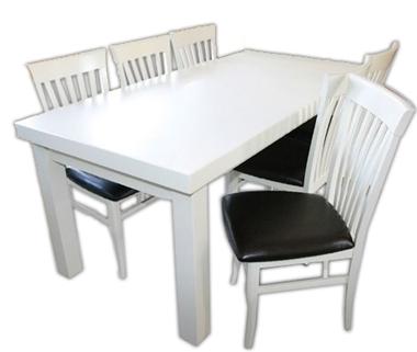 תמונה של פינת אוכל יוקרתית שולחן + 6 כסאות דגם 777