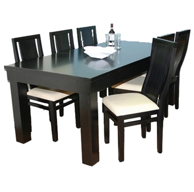 תמונה של פינת אוכל יוקרתית שולחן + 6 כסאות דגם 444
