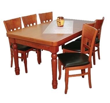 תמונה של פינת אוכל יוקרתית שולחן + 6 כסאות דגם חריטה