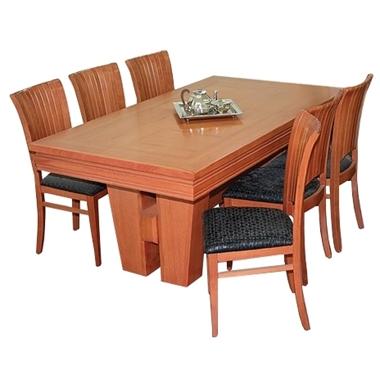 פינת אוכל יוקרתית שולחן + 6 כסאות דגם מניפה
