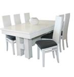 תמונה של פינת אוכל יוקרתית שולחן + 6 כסאות דגם קורה