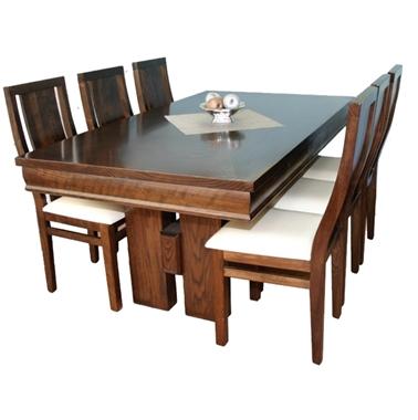 תמונה של פינת אוכל יוקרתית שולחן + 6 כסאות דגם מעטפה