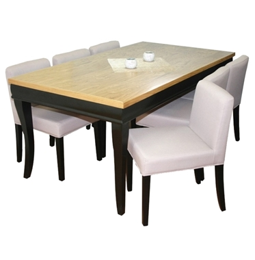 תמונה של פינת אוכל יוקרתית שולחן + 6 כסאות דגם סיוון