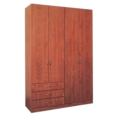 ארונות בגדים: ארון 4 דלתות 3 מגירות 525 כולל במה