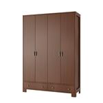 תמונה של ארונות בגדים: ארון 4 דלתות 2 מגירות דגם לילך סנדוויץ'