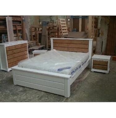תמונה של חדרי שינה: חדר שינה זוגי עץ מלא דגם גיל