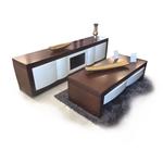 תמונה של מזנונים ושולחנות טלוויזיה: מזנון + שולחן מעץ מלא דגם מייק
