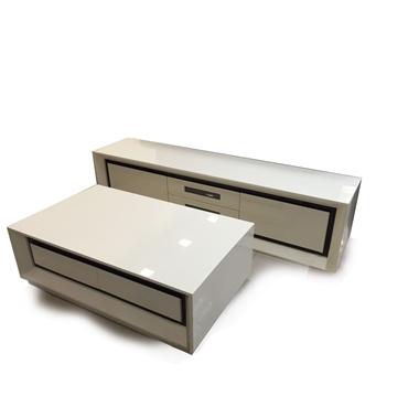מזנונים ושולחנות טלוויזיה: מזנון + שולחן מעץ מלא דגם תומר