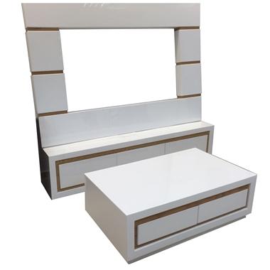 מזנונים ושולחנות טלוויזיה: מזנון + שולחן מעץ מלא דגם אלון