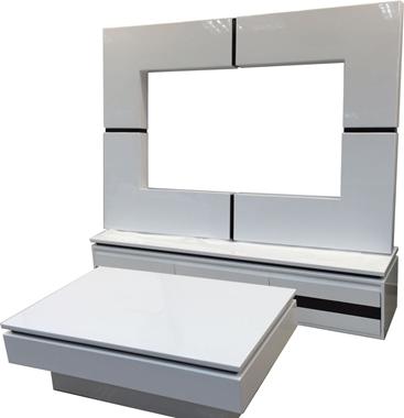 מזנונים ושולחנות טלוויזיה: מזנון + שולחן מעץ מלא דגם רותם