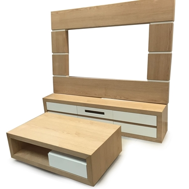 מזנונים ושולחנות טלוויזיה: מזנון + שולחן מעץ מלא דגם אלמוג