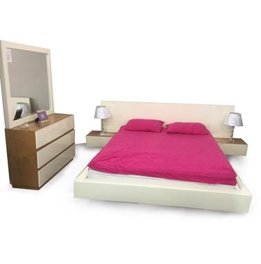 תמונה של חדרי שינה: חדר שינה זוגי עץ מלא מרחף דגם ליאל