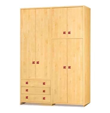 ארונות בגדים: ארון 4 דלתות במחיר משתלם דגם אשר סנדוויץ'