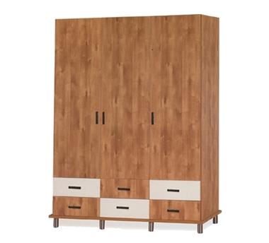 ארונות בגדים: ארון 3 דלתות ו-6 מגירות דגם יער סנדוויץ'