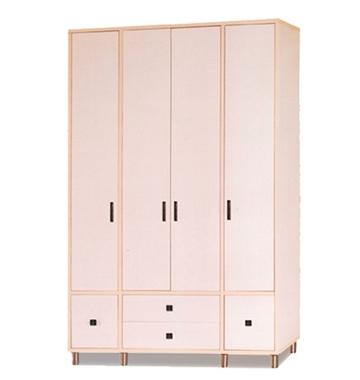 תמונה של ארונות בגדים: ארון 4 דלתות במחיר משתלם דגם לונדון סנדוויץ'
