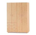 תמונה של ארונות בגדים: ארון 4 דלתות במחיר משתלם דגם קריסטל סנדוויץ'