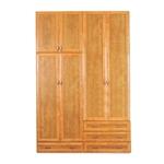 תמונה של ארונות בגדים: ארון 4 דלתות במחיר משתלם דגם שושי סנדוויץ'
