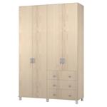 תמונה של ארונות בגדים: ארון 4 דלתות ו3 מגירות דגם שירה מ.ד.פ