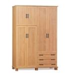 תמונה של ארונות בגדים: ארון ארבע דלתות ו- 3 מגירות דגם נווה סנדוויץ'