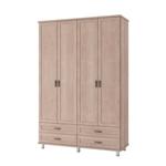 תמונה של ארונות בגדים: ארון בגדים 4 דלתות דגם שח-מט סנדוויץ'