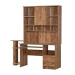 תמונה של שולחן מחשב משולב ספריה דגם 022