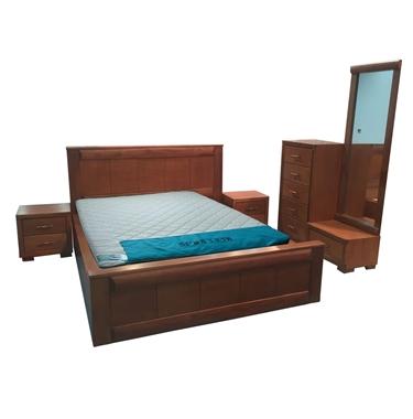 חדרי שינה: חדר שינה זוגי עץ מלא דגםרמי
