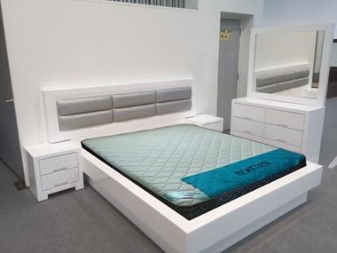 חדרי שינה: חדר שינה זוגי עץ מלא דגםבן