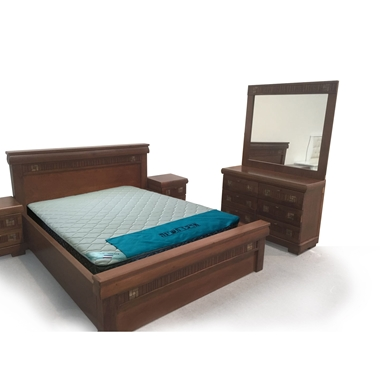 חדרי שינה: חדר שינה זוגי עץ מלא דגםבוגנים