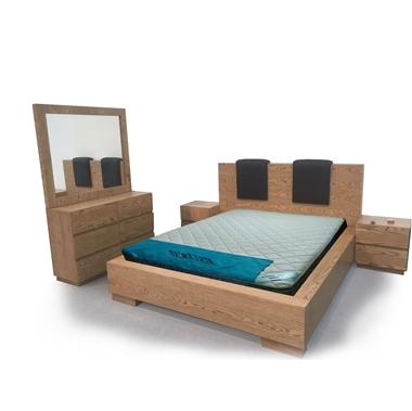 חדרי שינה: חדר שינה זוגי עץ מלא דגםאלקיים