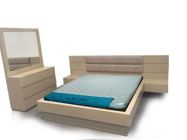 חדרי שינה: חדר שינה זוגי עץ מלא דגםרן