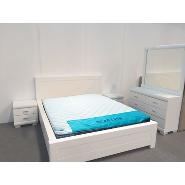חדרי שינה: חדר שינה זוגי עץ מלא דגםאלמוג