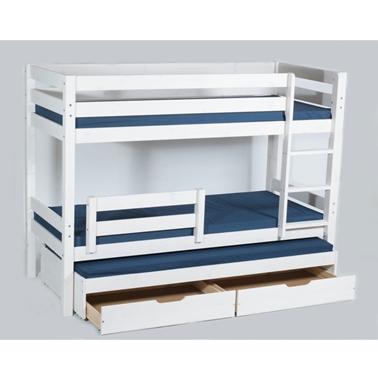 מיטות: מיטת קומותיים מעץ מלא + מיטה נגררת דגם אביתר